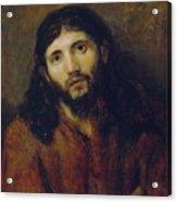 Christ Acrylic Print by Rembrandt Harmensz van Rijn