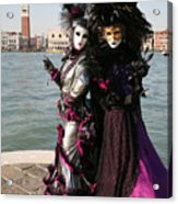 Christine And Gunilla Across St. Mark's  Acrylic Print by Donna Corless