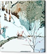 Christmas Crisp Acrylic Print by Mindy Newman