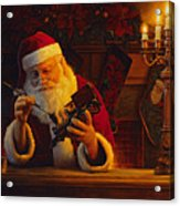 Christmas Eve Touch Up Acrylic Print by Greg Olsen