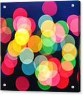 Christmas Lights Abstract Acrylic Print by Elena Elisseeva