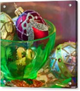 Christmas Ornaments Acrylic Print by June Marie Sobrito