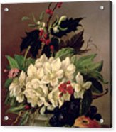 Christmas Roses Acrylic Print by Willem van Leen