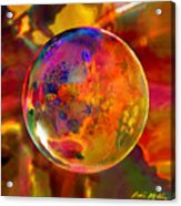 Chromatic Floral Sphere Acrylic Print by Robin Moline