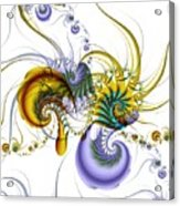 Chromatic Shrimp Acrylic Print by David April