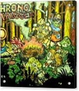 Chrono Trigger Campfire Acrylic Print by Paul Tokach