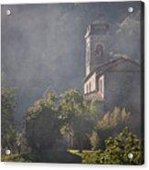 Church In Partigliano Acrylic Print by Steven Gray