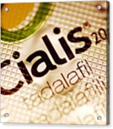 Cialis Packaging Acrylic Print by Pasieka