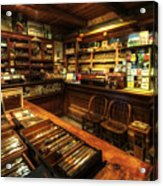 Cigar Shop Acrylic Print by Yhun Suarez