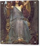 Circe Offering The Cup To Ulysses Acrylic Print by John Williams Waterhouse