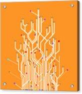 Circuit Board Graphic Acrylic Print by Setsiri Silapasuwanchai