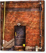 City - Door - The Back Door  Acrylic Print by Mike Savad