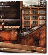 City - Ny - New York History Acrylic Print by Mike Savad