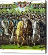 Civil War Generals And Statesman Acrylic Print by War Is Hell Store