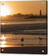 Classic Santa Cruz Sunset Acrylic Print by Paul Topp