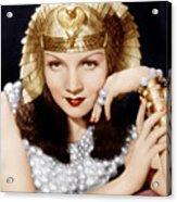 Cleopatra, Claudette Colbert, 1934 Acrylic Print by Everett