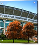 Cleveland Browns Stadium Acrylic Print by Kenneth Krolikowski