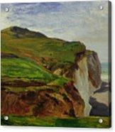 Cliffs Acrylic Print by Louis Eugene Gabriel Isabey