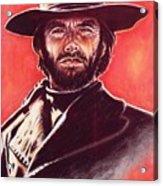 Clint Eastwood Acrylic Print by Anastasis  Anastasi
