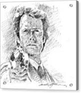 Clint Eastwood As Callahan Acrylic Print by David Lloyd Glover
