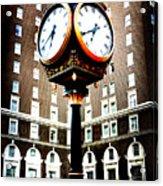 Clock Acrylic Print by Kelly Hazel