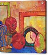 Clock Work Acrylic Print by Blenda Studio