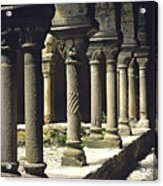 Cloister Of Lavaudieu. Haute Loire. Auvergne Acrylic Print by Bernard Jaubert