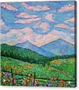 Cloud Swirl Over The Peaks Of Otter Acrylic Print by Kendall Kessler