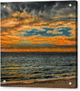 Cloudy Sunrise Acrylic Print by Dave Bosse