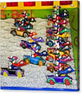 Clown Car Racing Game Acrylic Print by Garry Gay