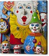Clown Toys Acrylic Print by Garry Gay