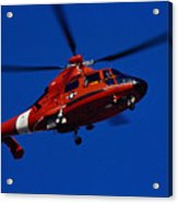 Coast Guard Helicopter Acrylic Print by Stocktrek Images