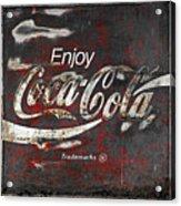 Coca Cola Grunge Sign Acrylic Print by John Stephens