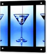 Cocktail Triptych Acrylic Print by Jane Rix