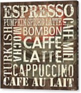 Coffee Of The Day 2 Acrylic Print by Debbie DeWitt
