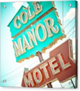 Cole Manor Motel Acrylic Print by David Waldo