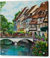 Colmar In Full Bloom Acrylic Print by Charlotte Blanchard