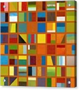 Color Study Collage 66 Acrylic Print by Michelle Calkins