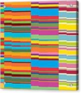 Colorful Stripes Acrylic Print by Ramneek Narang
