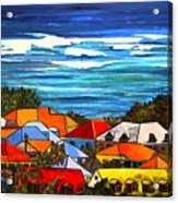 Colors Of St Martin Acrylic Print by Patti Schermerhorn