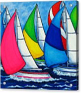 Colourful Regatta Acrylic Print by Lisa  Lorenz