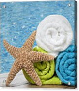Colourful Towels Acrylic Print by Amanda Elwell