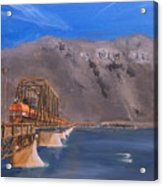 Columbia Crossing Acrylic Print by Christopher Jenkins
