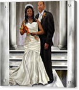 Commissioned Wedding Portrait  Acrylic Print by Reggie Duffie