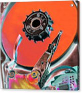 Computer Hard Disc Acrylic Print by Mark Sykes