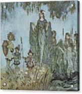 Comus Sabrina Rises Attended By Water-nymphs Acrylic Print by Arthur Rackman