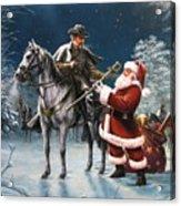 Confederate Christmas Acrylic Print by Dan  Nance