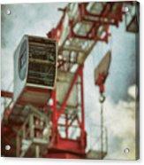 Construction Crane Acrylic Print by Wim Lanclus