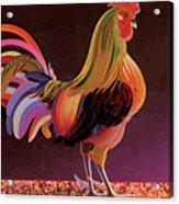 Copper Rooster Acrylic Print by Bob Coonts