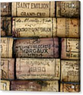 Corks Of French Wine Acrylic Print by Bernard Jaubert